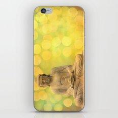 Buddha light yellow iPhone Skin