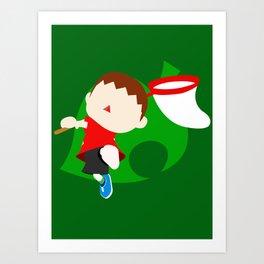 Super Smash Bros The Villager Art Print