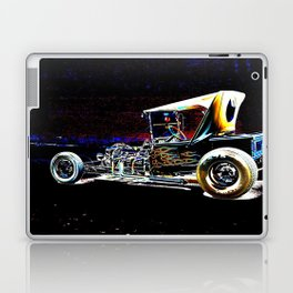 Hot Rod With Flames Laptop & iPad Skin