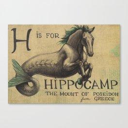 Alhabestiary H - Hippocamp Canvas Print