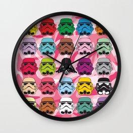 Color Full Patrol Pink Wall Clock