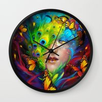 alchemy Wall Clocks featuring Alchemy by Lena Richards