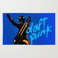 daft punk Area & Throw Rugs featuring Daft Punk by Alli Vanes