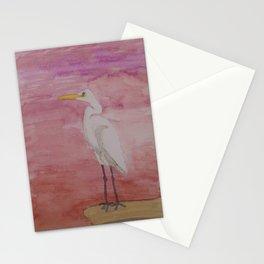 Egret Sunset Stationery Cards