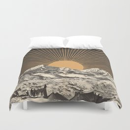 Mountainscape 6 - Night Sun Duvet Cover