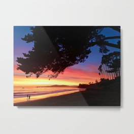 """A Sunset Walk"" Butterfly Beach at the Four Seasons Resort. Metal Print"