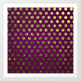 Polkadots Jewels G196 Art Print