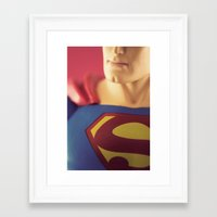 man of steel Framed Art Prints featuring Man Of Steel  by Fanboy30