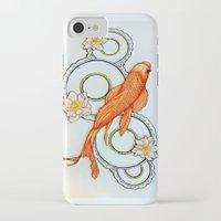 koi fish iPhone & iPod Cases featuring Koi Fish by Eleni Kakoullis