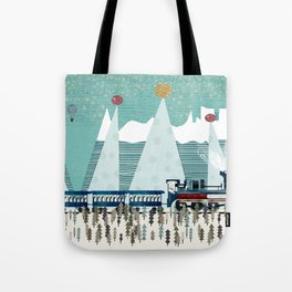 the penguin express Tote Bag