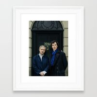 221b Framed Art Prints featuring 221B by tillieke