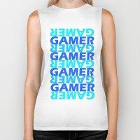 gamer Biker Tanks featuring Gamer by Joynisha Sumpter
