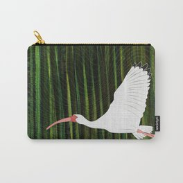American White Ibis In Flight Carry-All Pouch