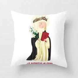 St. Catherine of Siena Throw Pillow