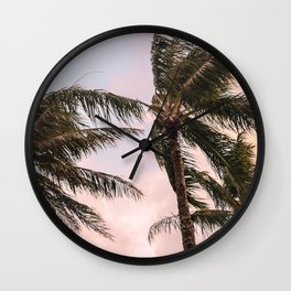 Cotton Candy Sunset Wall Clock