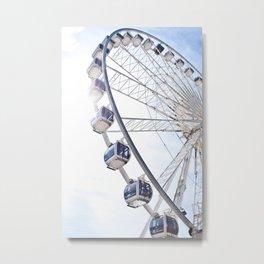 Brighton Wheel Metal Print