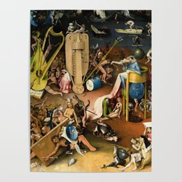 The Garden of Earthly Delights - Bosch - Hell Bird Man Detail Poster