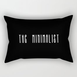 Minimalist text in black and white Rectangular Pillow