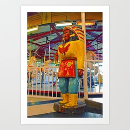 Chieftain sculpture Art Print