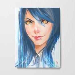 Technicolor Digital Painting Metal Print