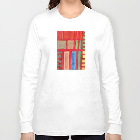 Some Chosen Rectangles orderly on Red Long Sleeve T-shirt
