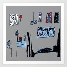 ARCHiTECTURAL DESiGN bedroom Art Print