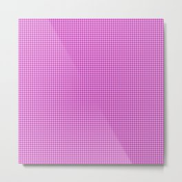 Pink and Purple Tartan Metal Print