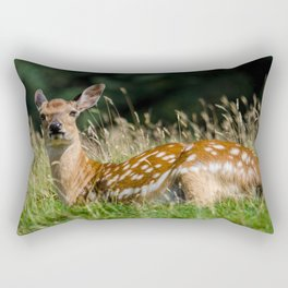 Fallow deer doe Rectangular Pillow