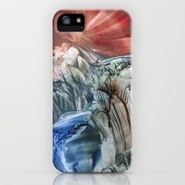 Morphing obscure horizons into shifting emotions iPhone Case