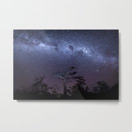 Milky way in Botswana's Bush Metal Print