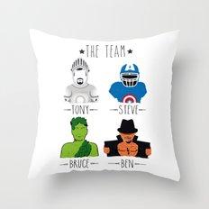 THE TEAM Throw Pillow