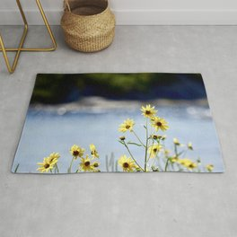 Yellow Flowers by Water Rug