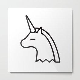 Albino Sugar Unicorn Metal Print
