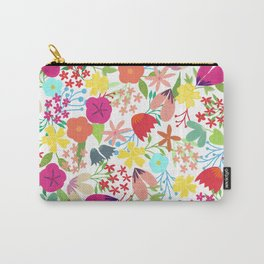 Wildflower Pattern Carry-All Pouch