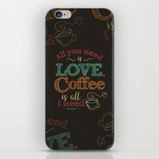 Love & Coffee (dark brown) iPhone & iPod Skin