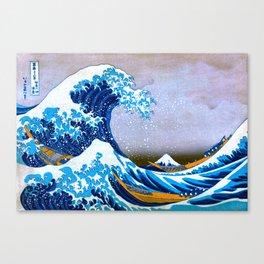 The Great Wave off Kanagawa (Bright & Colorful) Canvas Print