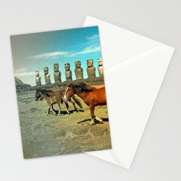 EASTER ISLAND SCENE Stationery Cards