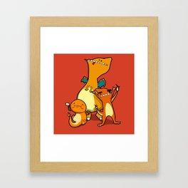 Pokémon - Number 4, 5 & 6 Framed Art Print