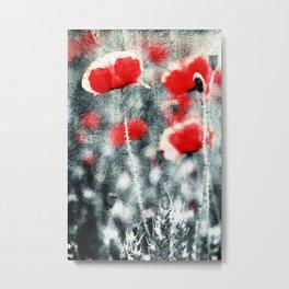 Poppy Art 3 Metal Print