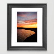 standing rock sunset Framed Art Print