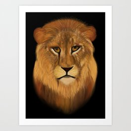 Lion - the King of the Jungle Art Print