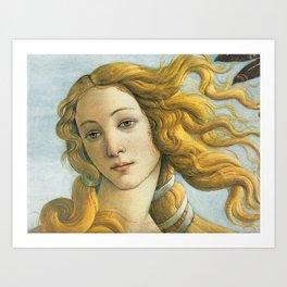 Birth of Venus detail Art Print
