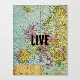 Live Print Canvas Print