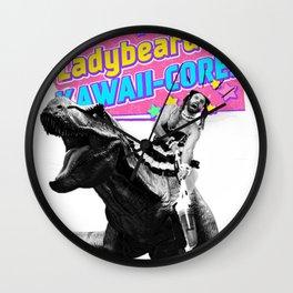Ladybeard riding a T-Rex Wall Clock