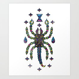 Awesome Trippy & Creepy Scorpion Art Print