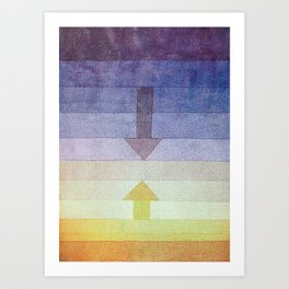 Separation in the Evening by Paul Klee 1922 // Sunset Abstract Minimalism Sun and Darkness Art Print