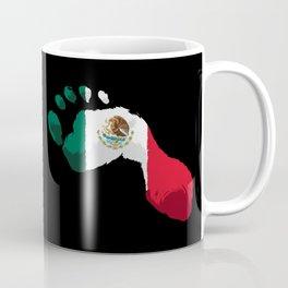 Mexico Flag - Mexican Foot Prints - Hecho En Mexico Coffee Mug