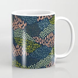 Dashes and dots // abstract pattern Coffee Mug