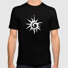 Sun Spiral (white) MEDIUM Mens Fitted Tee Black