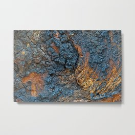Charred Wood Texture Metal Print